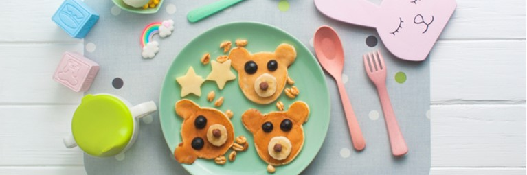 teddy bear pancake art