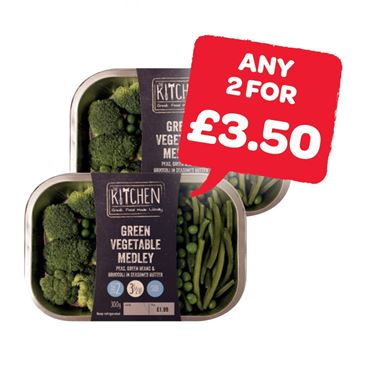 The Kitchen Green Vegetable Medley | 300g