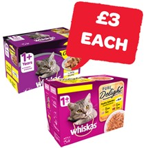 Whiskas Casserole / Pure Delight Cat Food | 12 Pack