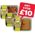 Any 4 For £10 | Oh So Lean Chicken Curry & Rice / Chilli Chicken & Rice / Pasta Bolognaise | 400/350g
