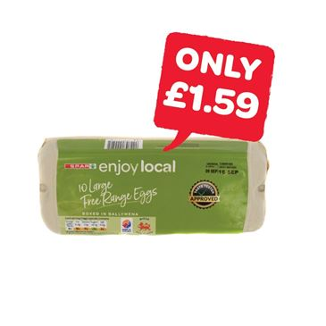 SPAR enjoy local Free Range Large Eggs | 10 Pack