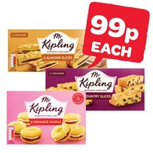 Mr Kipling Country Slices / Almond Slices / Viennese Whirls | 6 Pack