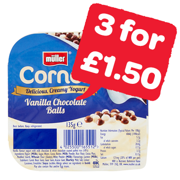 Muller Corner / Light / Rice Yogurt | 135 - 180g