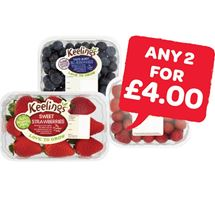 Keelings Strawberries / Raspberries / Blueberries | 125-227g