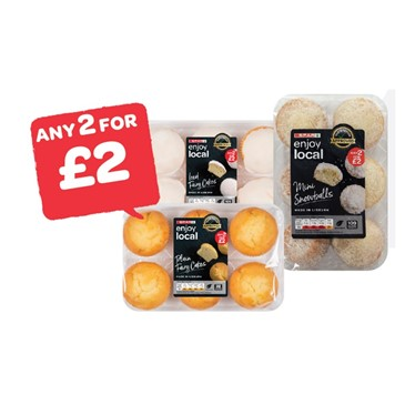 SPAR enjoy local Shorties / Oaties / Iced Fairy Cakes / Plain Fairy Cakes / Mini Snowballs | 6 Pack