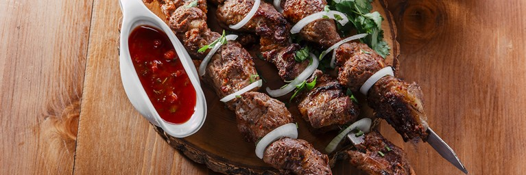Middle Eastern Lamb Kebabs with Dipping Sauce