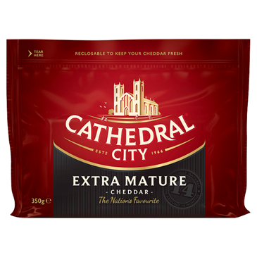 Cathedral City Extra Mature Cheddar, 350g
