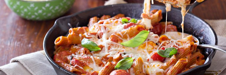 Tomato and Basil Penne Pasta Bake