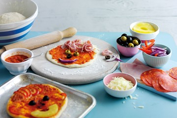 Kids Homemade Pizzas