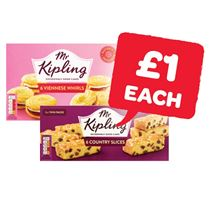 Mr Kipling Bakewell / Country Slices / Viennese Whirls | 6 Pack