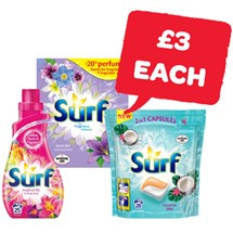 Surf 23 Wash / Liquid 25 Wash / Capsules | 1.5Kg/875ml/20