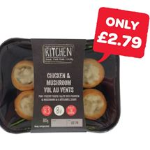 The Kitchen Chicken & Mushroom Vol Au Vents | 180g