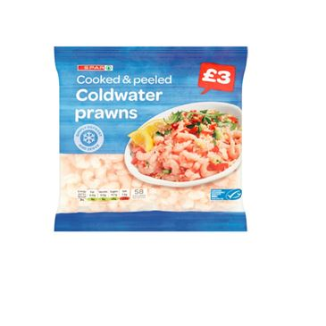 SPAR Coldwater Prawns Price Marked Pack | 180g