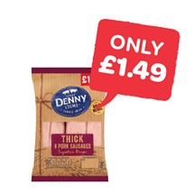 Denny Thick Pork Sausages 8