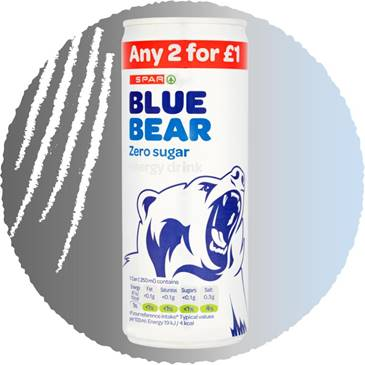 Blue Bear Zero Sugar, 250ml