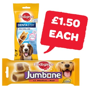 Pedigree Jumbone/Dentastix | 180/200g
