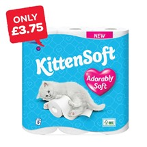 Kittensoft White Toilet Roll | 9 Roll