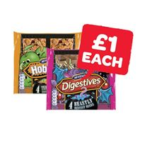 McVities Digestives Chocolate Beastly Bites / Hobnobs Terrifying Toffee Apple Bites | 4 Pack