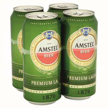 Amstel Premium Lager,4x440ml can pack