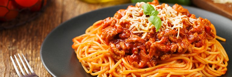 A Classic Meal for Two of Spaghetti Bolognese
