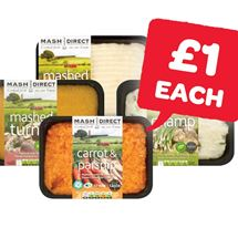 Mash Direct Mashed Potato / Carrot & Parsnip / Champ / Mashed Turnip | 400g