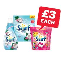 Surf Powder 23 Wash / Capsules 20 Wash / Liquid 25 Wash | 1.5Kg/20