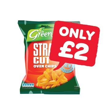 Greenisle Straight Cut Oven Chips | 1.5Kg