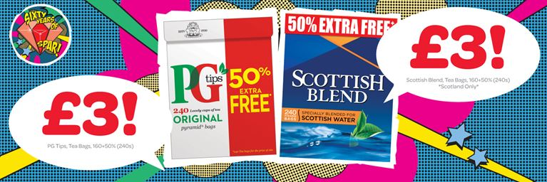 PG Tips and Scottish Blend for £3