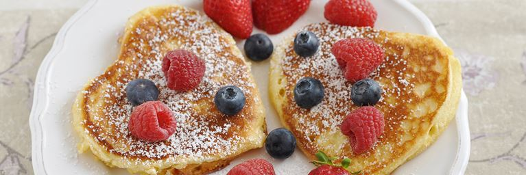 Heart Shaped French Toast with Berries