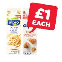 Alpro Almond Fresh / Fresh Oat / Unsweetened Almond / Fresh Coconut Milk | 1 Litre