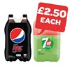 £2.50 | Pepsi Max / 7UP Free 2 Litre | 2 Pack