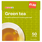 £1.50, SPAR Green Tea, 50 bags