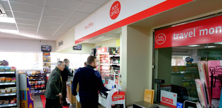 Stop off at one of our 559 post offices in the UK