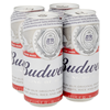 £4.39, Budweiser Premium Lager, 4x440ml Can Pack