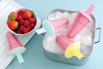 Strawberry and Raspberry Milk Pops