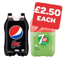 Pepsi Max / 7UP Free 2 Litre | 2 Pack