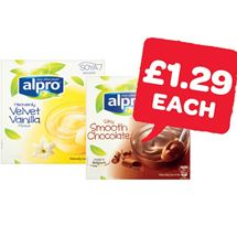 Alpro Caramel / Vanilla / Chocolate / Dark Chocolate / Coconut Dessert 125g | 4 Pack