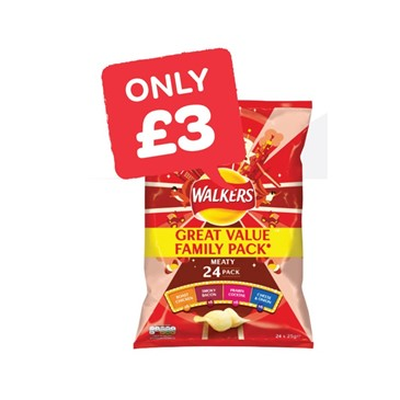 Walkers Crisps 18 Pack Plus 6 Free | 24 Pack