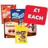 Only £1 | Galaxy Minstrels / Counters / Revels / Maltesers / Milky Way Magic Stars / M&M