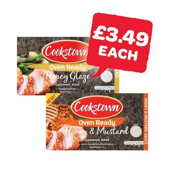 Cookstown Gammon Joint with Honey / Honey & Mustard Sauce | 450g