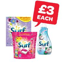 Surf Powder 23 Wash / Capsules / Liquid 25 Wash | 1.5Kg/20
