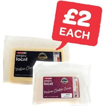 SPAR enjoy local Medium / Mature Cheddar Cheese | 300g