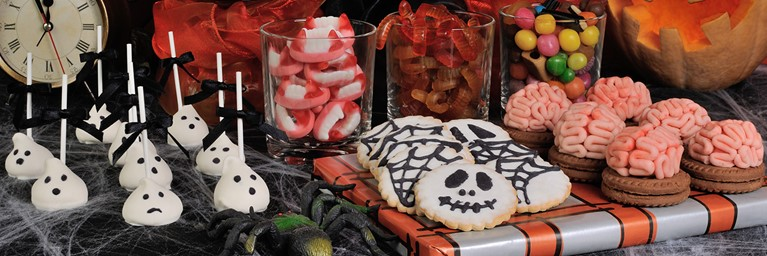 Selection of Halloween Themed Party Checklist Snacks