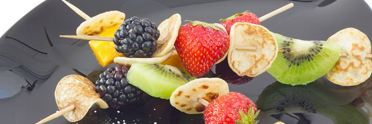 Mini Pancake and Fruit Kebabs