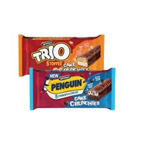 McVities Trio Toffee / Penguin Cookies & Cream Crunchie Bars | 5 Pack