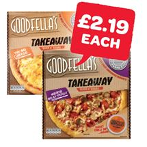 Goodfellas Takeaway Pepperoni / Cheese / Mighty Meat Feast | 553/555/596g