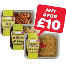 Oh So Lean Chicken Curry & Rice / Chilli Chicken & Rice / Pasta Bolognaise | 400/350g