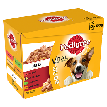 Pedigree  Dog Pouches Mixed Selection in Jelly | 12x100g