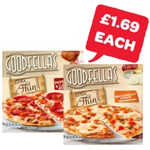 Goodfellas Extra Thin Pepperoni / Mozarella | 328/319g