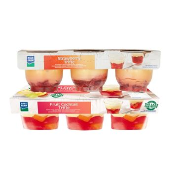 Dale Farm Trifle Strawberry / Fruit Cocktail 110g | 3 Pack